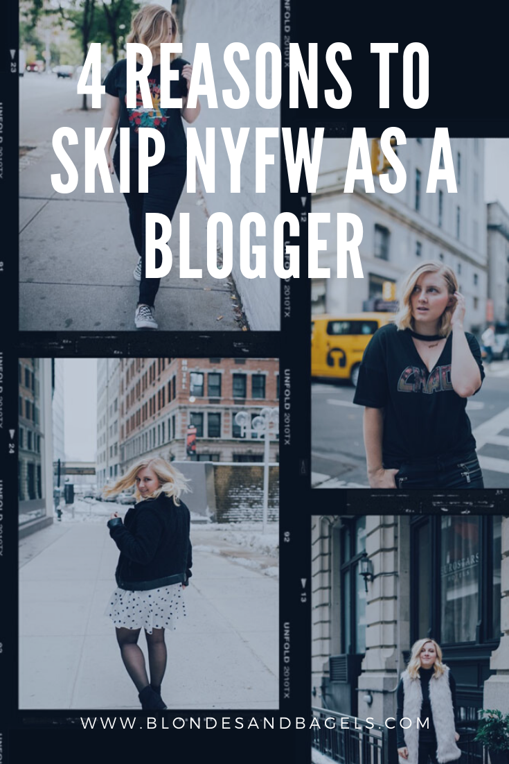 new york fashion week as a blogger