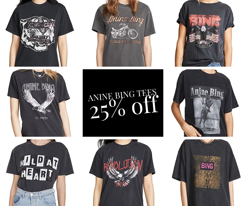 Anine Bing SALE on tees 25% off