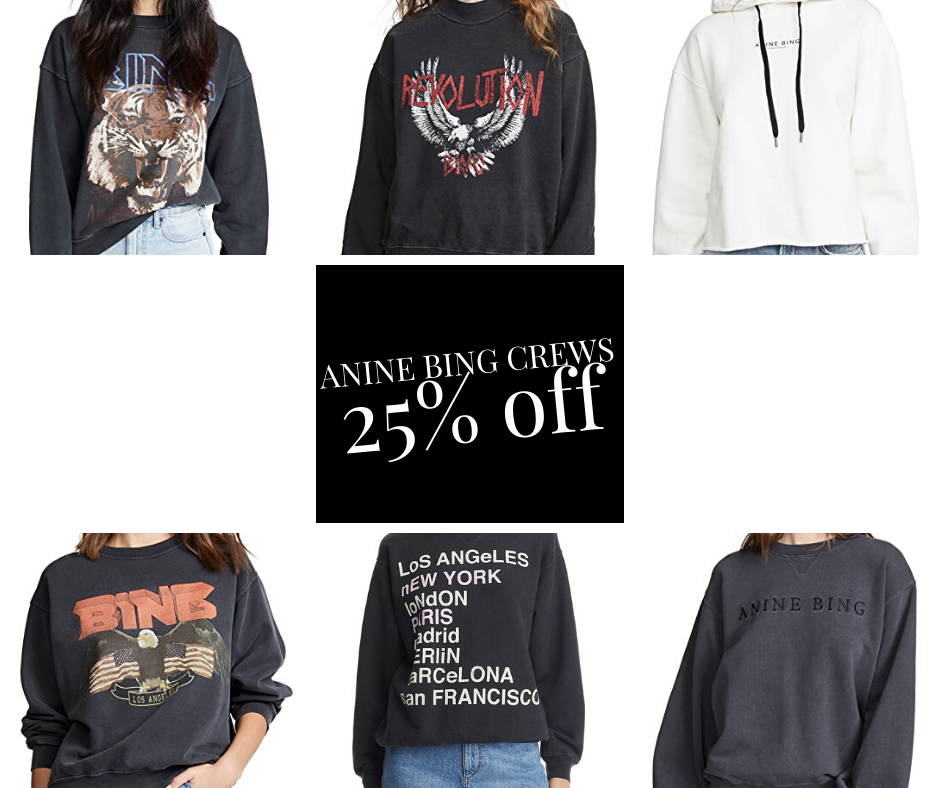 Anine Bing SALE on sweatshirts 25% off