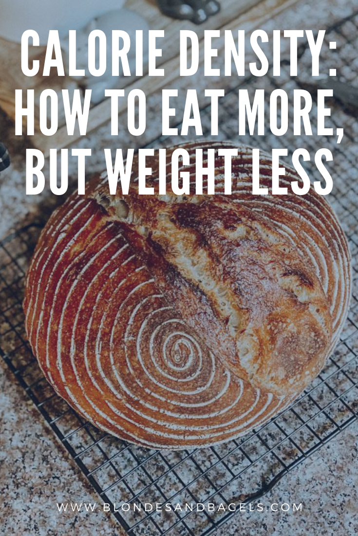 Eat MORE, but weigh LESS by understanding how calorie density works and how to use it to your advantage! If you love to snack, this one's for you.